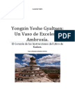 Yongzin Yeshe Gyaltsen Un Vaso de Excelente Ambrosía.