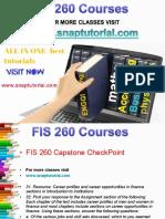 FIS 260 Academic Success/snaptutorial