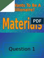 Materials Wwtbam
