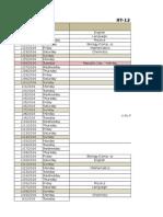 EB Schedule