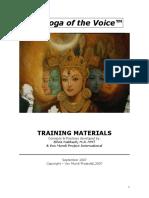 YOV Training Book