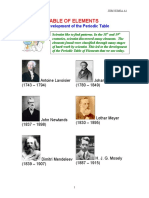 1 Development of the Periodic Table Updated