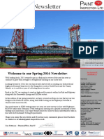 Paint Inspection Ltd Spring 2016 Newsletter