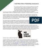 ¿Habla Español? And Other Direct Marketing Annoyances