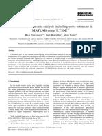 Classical tidal harmonic analysis including error estimates in MATLAB using T TIDE