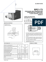 Flow Control, 3 Way, Pr & Temp Compensated,NG6, Type RPC1-T3
