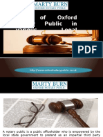 Role of Oxford Notary Public in Various Legal Activities