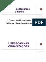 Modulo I Pessoas Nas Organizacoes CLima Cultura