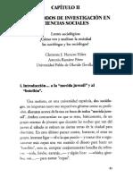 Capítulo II Los Metodos de Investigación en Ciencias Sociales