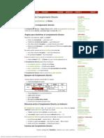 Gramáticas Ejemplos de Complemento Directo