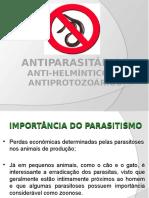 Antiparasitários e Antihelminticos