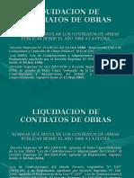 LIQUIDACION DE CONTRATO DE OBRA