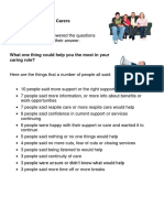 100 Voices for Family Carers Lists Handout
