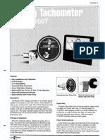 Electro Sensort H100TAnalogTachometer
