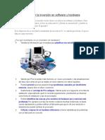 Cómo rentabilizar la inversión en software y hardware.docx