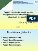 Curs 05-7 - Reactii Chimice. Reactii Redox Si Aplicatiile Acestora