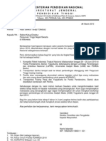 Surat Pemberitahuan Hasil Seleksi Tahap 2 KORINDO 2010