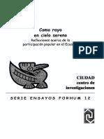 Reflexión sobre la participación popular en el Ecuador