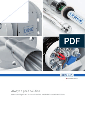 Krohne Marshall Product Overview | Flow Measurement | Applied And