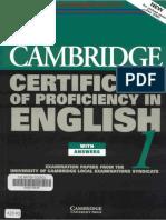 Cambridge Certificate of Profeciency in English 1