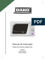 Dako Manual Microondas Digital 18 Litros