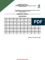 Gabarito Definitivo das provas do concurso publico da UFG 2015
