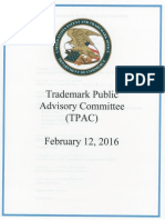 Trademark Public Advisory Committee meeting slides | Feb. 12, 2016