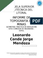 218322664 Informe de Altimetria Topografia
