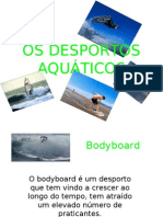 Power Point - Os desportos Aquáticos e o meio ambiente