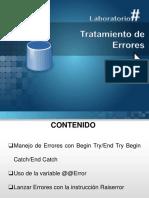 Presentacion - Base de Datos II - Tratamiento de Errores