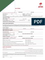 Customer Registration Form Airtel Final 23 10 2015
