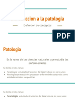 Introduccion a La Patologia