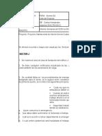 Planificacion Recorrido Diario Por Los Sectores 2015