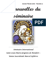 Bulletin du séminaire Saint Louis Marie Grignon de Montfort n2 février 2016