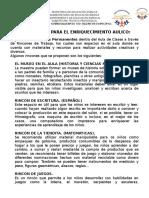 SUGERENCIAS ENRIQUECIMIENTO AULICO