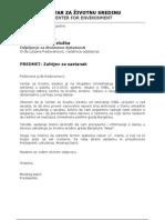 Zahtjev Za Sastanak Sa Ljiljiom Radovanovic 15.3.10