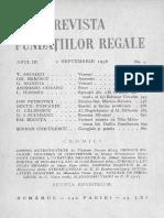 RFR Sept 1936 Seba Despre Teatru Si Tg