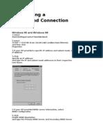 Configuring a Bradband Connection