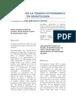 Aplicaciones La Terapia Fotodinámica en Odontología
