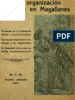 La Organización Obrera en Magallanes. (1915)