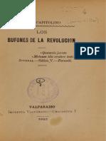 Los Bufones de La Revolución. (1893)