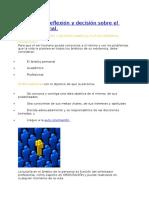 Ámbitos de reflexión y decisión sobre el futuro personal F C y E 9°