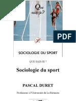 Sociologie Du Sport Duret Pascal 1