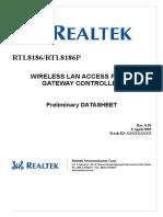 RTL8186 Datasheet 0.95