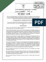 2. Decreto 24 Del 12 de Enero de 2016