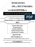 Convocatoria MADRID 2013