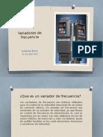 Maquinas 2 (Variadores de Frecuencia) Anthony Rivas 25.447.057