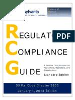 Regulatory Compliance Guide Chaper 3800