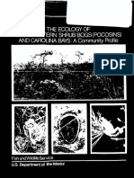Ecology of Pocosins and Carolina Bays FWS:OBS-82:04