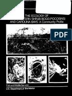 Ecology of Pocosins and Carolina Bays FWS:OBS-82:04